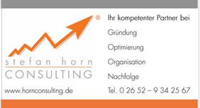 Visitenkarte Stefan Horn Consulting